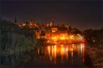 Bernburg bei Nacht