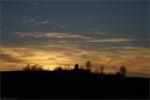 Muehle zum Sonnenuntergang